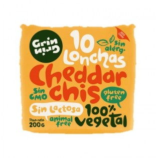 Queso LONCHAS cheddar CHIS de GRIN GRIN